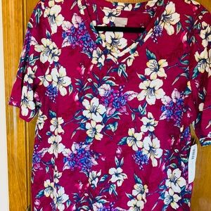 Striking Floral Elbow Tee Chico's